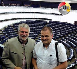 Michael bernhard und Uwe Kess im Europäischen Parlament