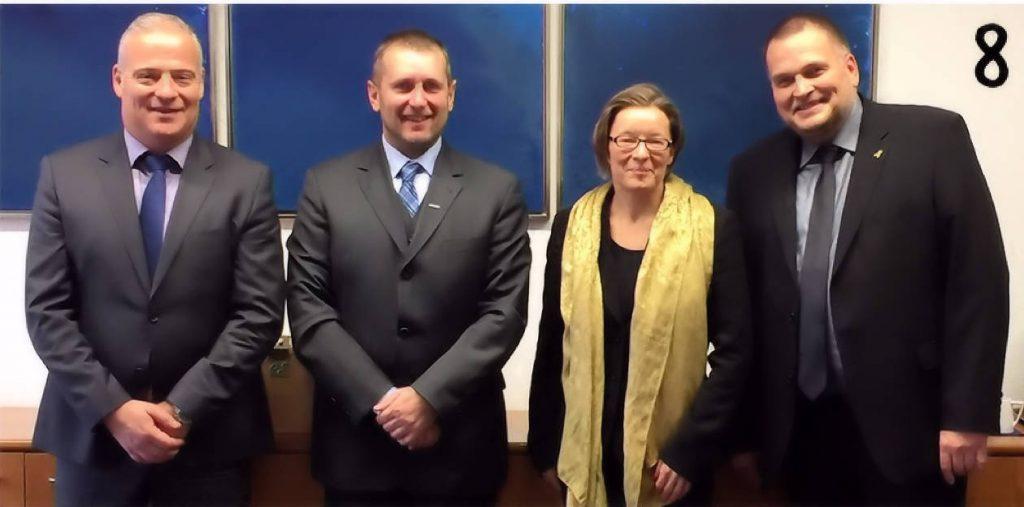 v.l. Udo Bergmann (WLR), Alexander Heiling (WLR), Dr. rer. nat. Elisabeth Hauschild (Leiterin Hauptstadtbüro), Uwe Kess (WLR)