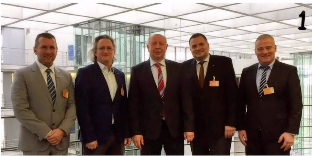 v.l. Alexander Heiling (WLR), Dr. Matthias Hetscher, Eckhardt Rehberg (MdB), Uwe Kess (WLR), Udo Bergmann (WLR)