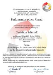 Einladung zum Parlamentarischen Abend 2009