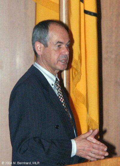 Minister Rudolf Köberle, Hausherr und Bevollmächtigter des Landes Baden-Württemberg beim Bund