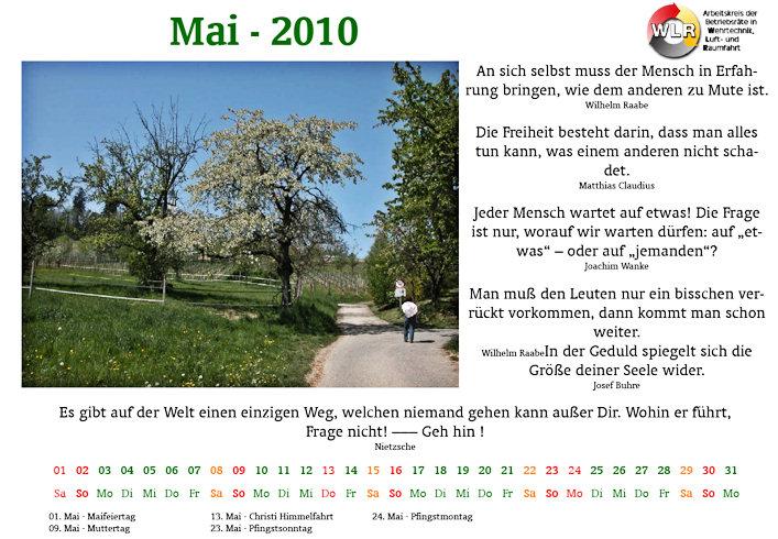 Der WLR-Kalender 2010